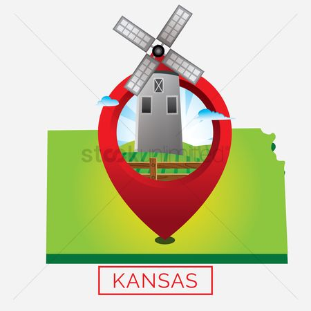 Kansas : Map of kansas state