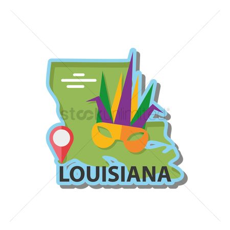 Navigators : Map of louisiana state