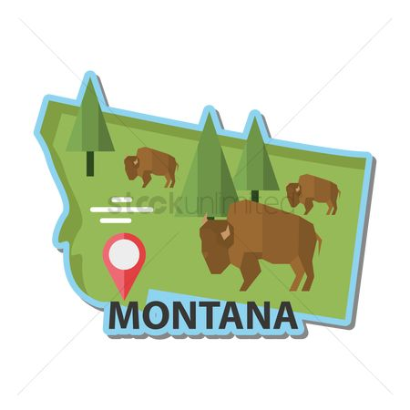 Navigators : Map of montana state