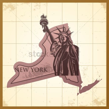 Torch : Map of new york state