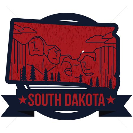 Dakota : Map of south dakota state