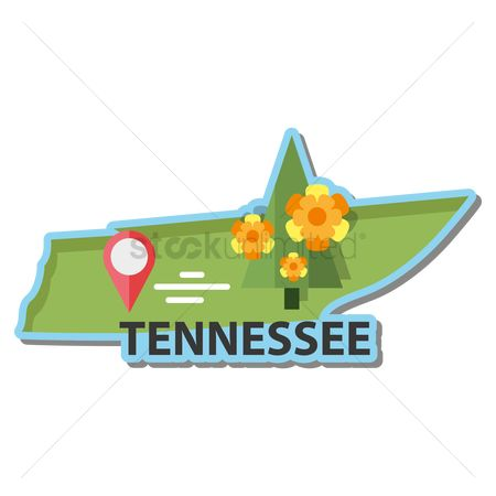 Tennessee : Map of tennessee state