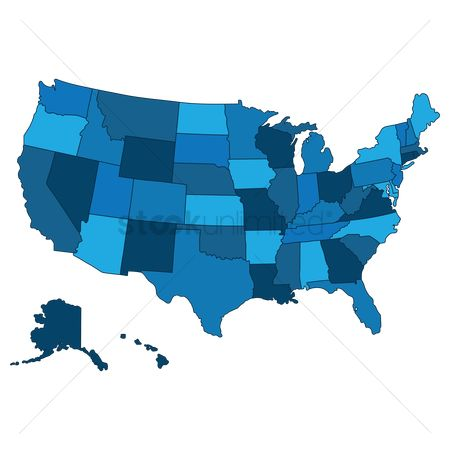 State : Map of the usa