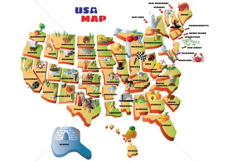 Indiana : Map of usa