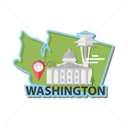 Needle : Map of washington state