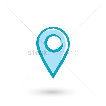 Map pin : Map pointer icon