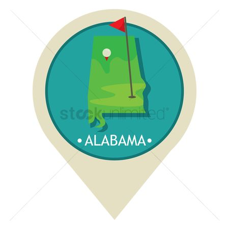 Navigators : Map pointer with alabama state
