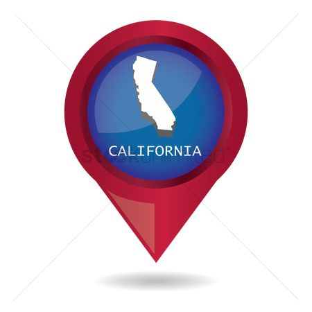 Navigator : Map pointer with california state