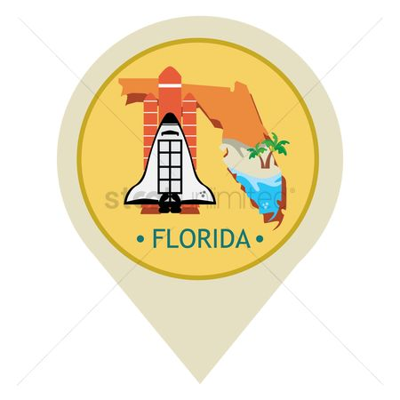 Navigators : Map pointer with florida state