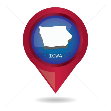 Navigators : Map pointer with iowa state
