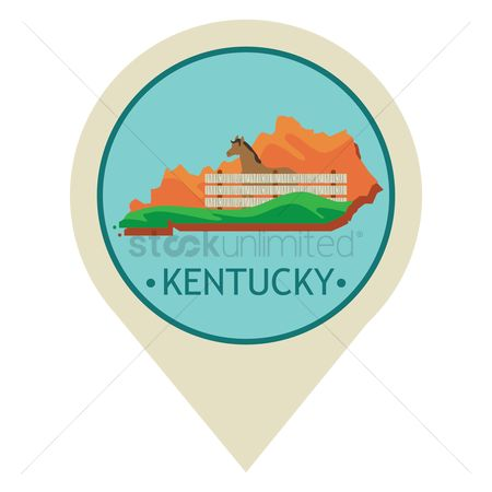 Navigators : Map pointer with kentucky state