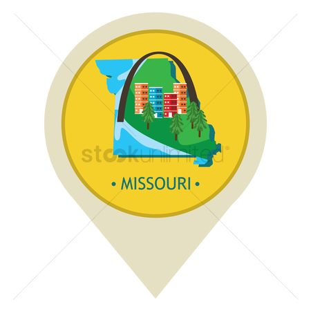 Navigators : Map pointer with missouri state
