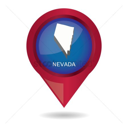 Navigators : Map pointer with nevada state
