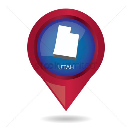 Utah map : Map pointer with utah state