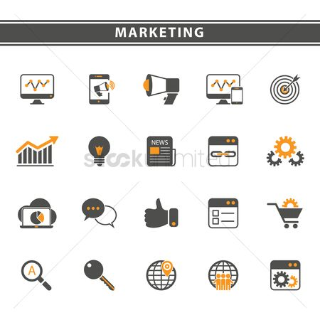 Magnifying : Marketing icons