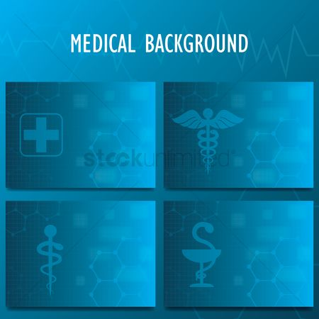 Health cares : Medical background set