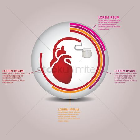 Conditioning : Medical heart infographic