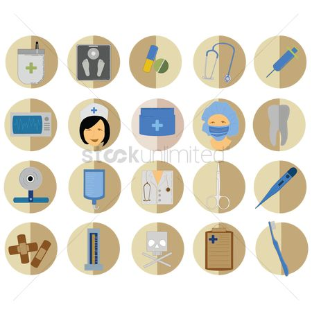 Dentist : Medical icons set