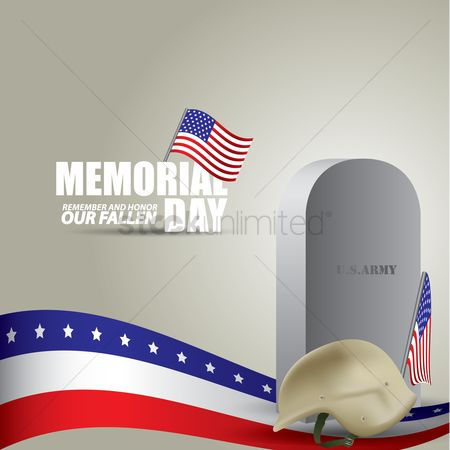 Soldier : Memorial day background
