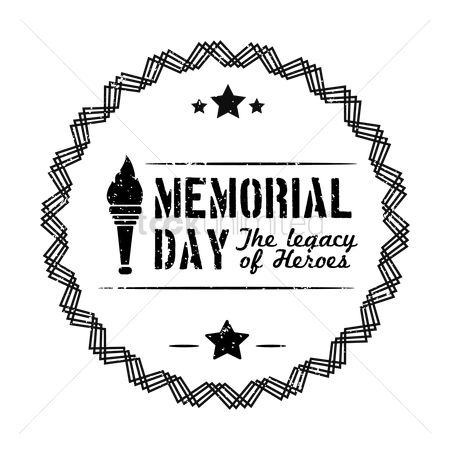 Torch : Memorial day label
