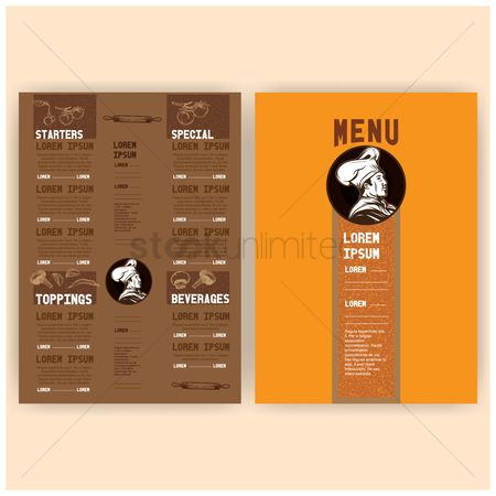 Topping : Menu card