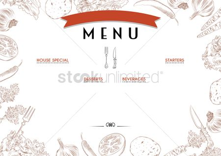 Fonts : Menu template