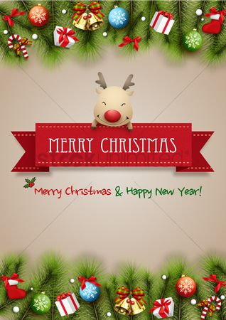 Santa : Merry christmas and happy new year