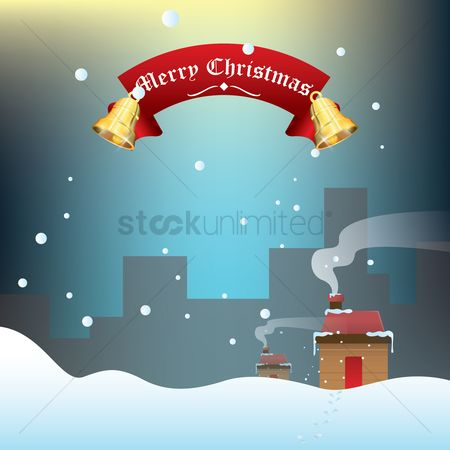 Chimneys : Merry christmas background