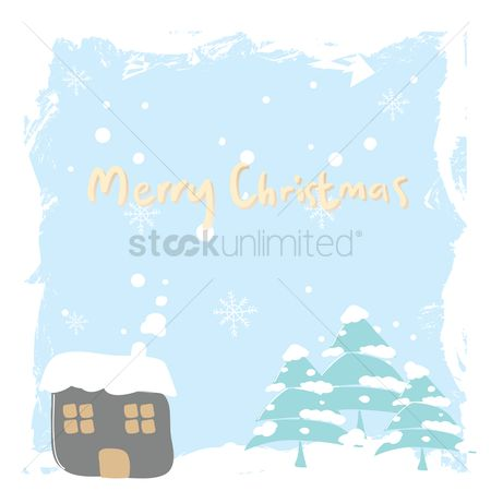 Cottage : Merry christmas card