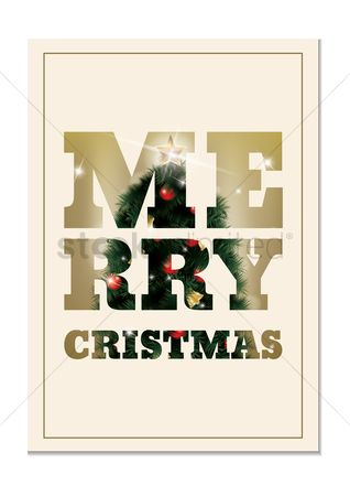 Sparkle : Merry christmas lettering design