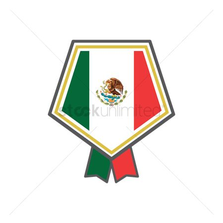 Pentagons : Mexican flag label