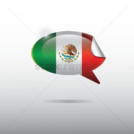 Tricolored : Mexico flag sticker
