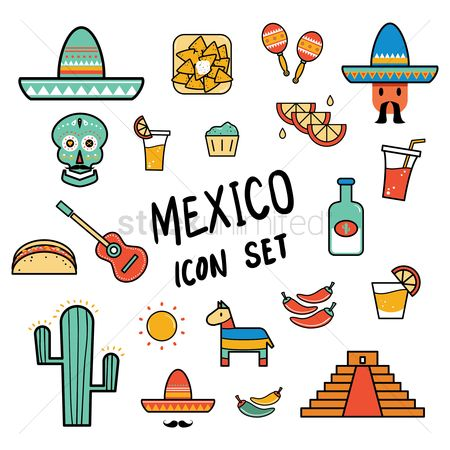 Festival : Mexico icon set