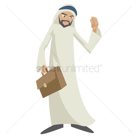 East : Middle eastern businessman