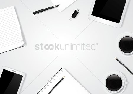 Notebooks : Minimalist table workspace