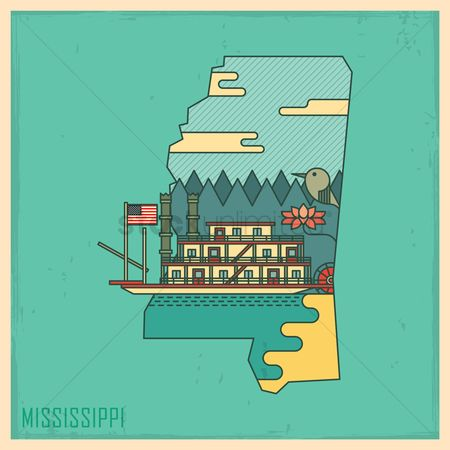 Usa map : Mississippi state map