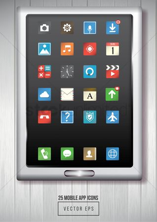 Audio book : Mobile app icon set
