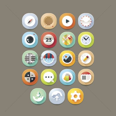 Shopping : Mobile app icon set