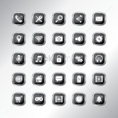 Volume : Mobile app icon set