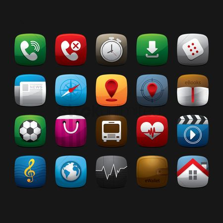 Icons news : Mobile app icons