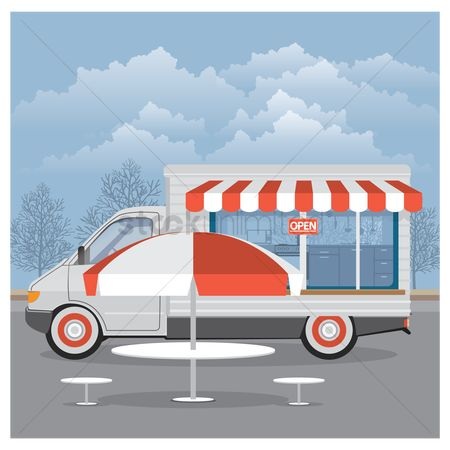 Awning : Mobile food van