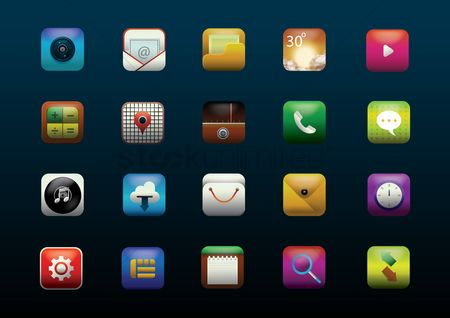 Communication : Mobile icon set