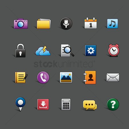 Phones : Mobile icon set