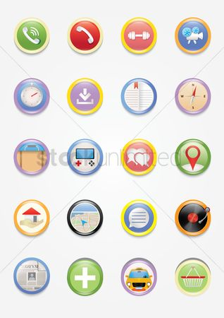 Wheel : Mobile icons