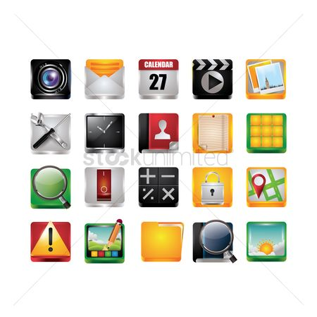 Magnifying : Mobile icons