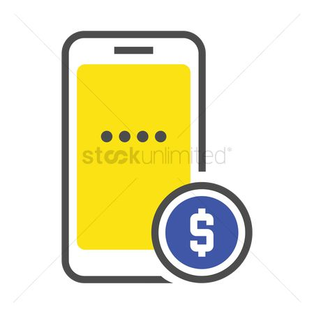 E commerces : Mobile payment icon