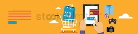 Online shopping : Mobile shopping banner