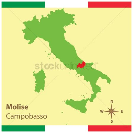 Highlights : Molise on italy map