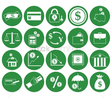 Profits : Money icons