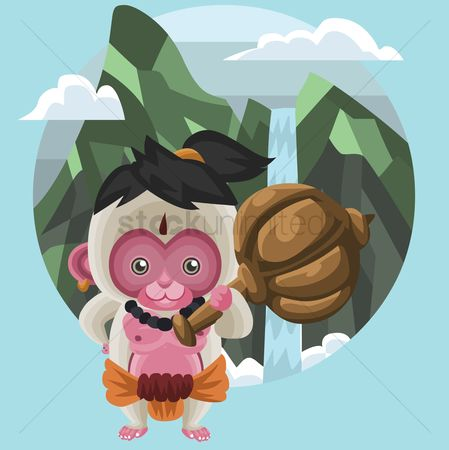 Claws : Monkey as hindu god